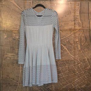 Bcbg Maxazria long sleeve light blue dress